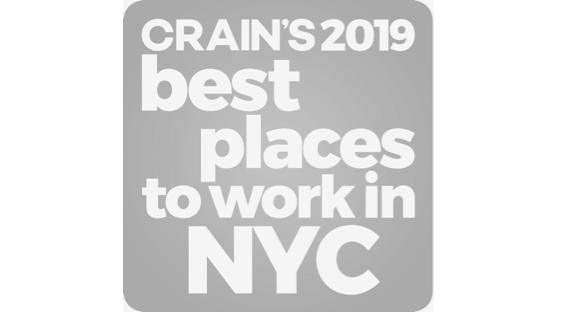 Crain's Best Places to work in NYC 2019