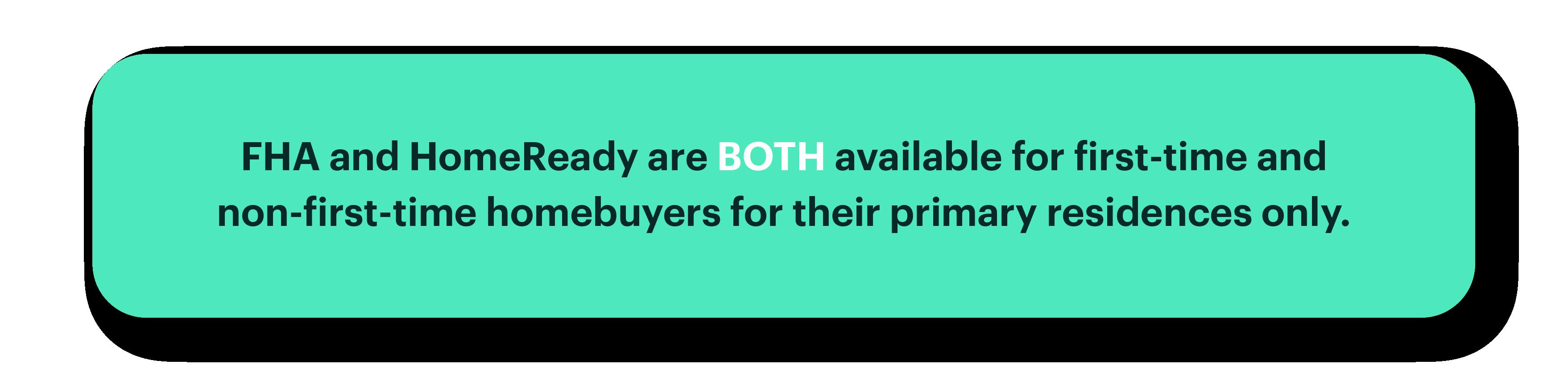 FHA vs  HomeReady | Better com