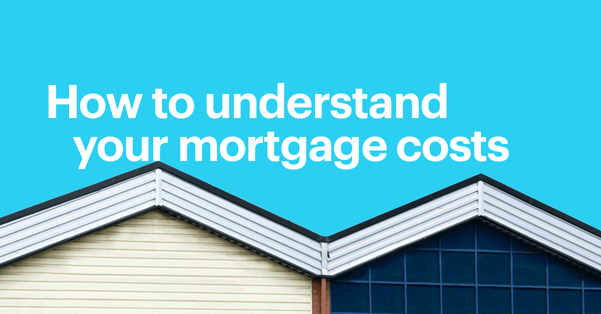 Top of Modern Style Home with Text That Reads: How to Understand Your Mortgage Costs