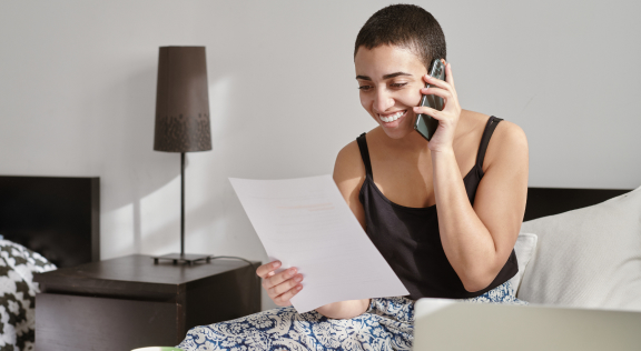 Potential borrower calling for support from home